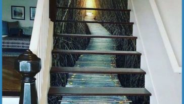 This painted staircase