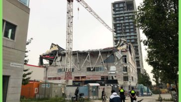 Roof collapsed of school that was supposed to open in september. Antwerp, Belgium 2021