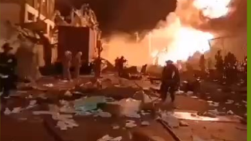 Explosion at the Chemical plant in Samut Prakan, Thailand. 7 July 2021