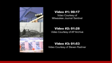 (7/14/1999) Crane collapses during the construction of the Miller Park (now called American Family Field) in Milwaukee, Wisconsin, resulting in the fatalities of three ironworkers. This video includes two angles of the collapse as it happened and small pieces of aftermath footage.