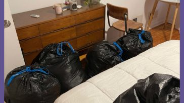 """I've moved 6 times in 8 years and have never done a true """"spring cleaning"""" It feels so satisfying to donate/get rid of stuff I've been hanging on to for nearly 10 years."""