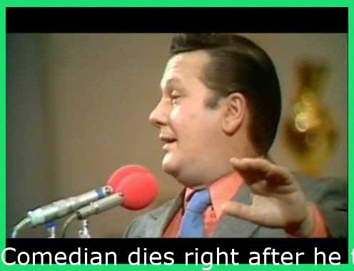 """Comedian dies after he tricks the crowd into a Seig Heil """"So many comrades in here tonight!"""" (1973)"""