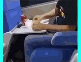 When you buy food on the train in Brazil.